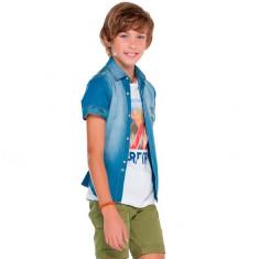 Camasa blugi baieti 6130 (Culoare: albastru, Imbracaminte pentru varsta: 12 ani - 152 cm)