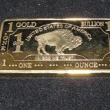 1 Ounce Bullion Bar SUA fals-copie aurit(43)