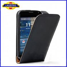 Husa Motorola Moto G Flip Case Inchidere Magnetica Black - Husa Telefon Motorola, Negru, Piele Ecologica, Cu clapeta, Toc