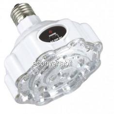Bec/neon - Bec LED 19 leduri cu acumulator si Comutator Acustic