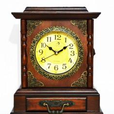Ceas de mana - Ceas de masa din lemn cu suport de chei - Produs Nou