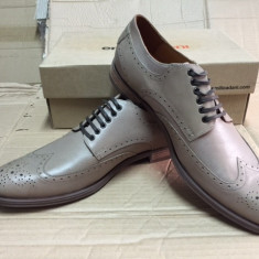 Pantofi barbati, Piele naturala - Pantofi PIELE NATURALA gerorgi marime 44 crem