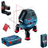 Nivela optica - BOSCH GLL 3-50 + BM 1 + LR 2 Nivela laser cu linii + Suport + Receptor +...