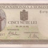 Bancnota 500 Lei 1941 (aprilie) Unc-!