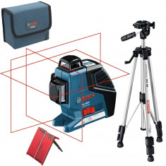 BOSCH GLL 3-80 P + BS 150 Professional Nivela laser cu linii + Stativ...