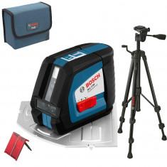 BOSCH GLL 2-50 + BS 150 Professional Nivela laser cu linii + Stativ...