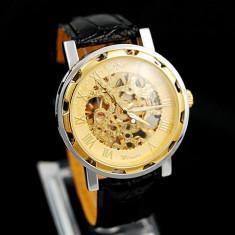Ceas Barbati Winner Imperial Mecanic Exclusive Edition GOLD, Black 6 Culori - Ceas barbatesc Geneva, Fashion, Mecanic-Automatic, Inox, Piele ecologica, Analog