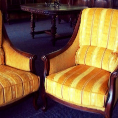Mobilier - Set canapea + fotoliu stil vintage