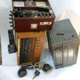 Centrala telefonica militara 2 buc + telefon militar + microreceptor cu cupla