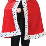 PELERINA COPII SI ADOLESCENTI REGE - REGELE ARTHUR - Costum copii, Marime: 40, Culoare: Rosu