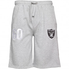 Pantaloni scurti, sort barbati MAJESTIC Raiders 100% originali, noi, etichetati - Bermude barbati Adidas, Marime: S, L, Culoare: Gri, Bumbac