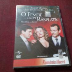FILM DVD O FEMEIE DREPT RASPLATA - Film comedie Altele, Romana