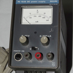 Sursa alimentare AEG de laborator Philips PE 1535 DC 0 - 40 V 0 - 500 mA