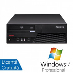 Lenovo ThinkCentre M58p Desktop, Intel Core 2 Duo E8400, 3.0Ghz, 4Gb DDR3, 250Gb HDD, DVD-RW + Windows 7 Professional - Sisteme desktop fara monitor Ibm