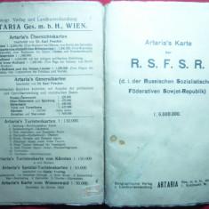 Harta mare RSFSR (Rusia), 1/6 000 000, interbelica Autor Artaria, Viena