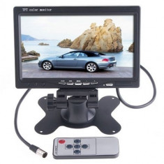 Monitor color de 7 inch pentru camera mers inapoi / dvd
