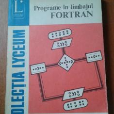 18340 HORIA GEORGESCU - PROGRAME IN LIMBAJUL FORTRAN