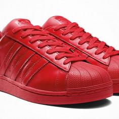 Adidasi Adidas Superstar Dama rosu - Adidasi dama Converse, Marime: 36, 37, Culoare: Din imagine, Textil