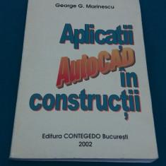 APLICAȚII AUTOCAD ÎN CONSTRUCȚII/ GEORGE G. MARINESCU/2002 - Manual Autocad
