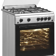 Aragaz Arctic AG 6612DTTLX, timer, aprindere electrica, Inox, 4 arzatoare, grill, rotisor