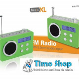 Radio portabil verde basicXL BXL-TR250GR - Aparat radio