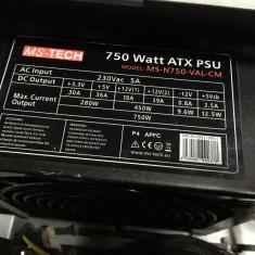Sursa calculator Modulara MS-TECH 750 Wats reali - Sursa PC