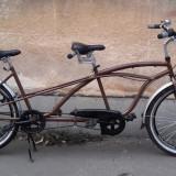 Bicicleta Tandem Neuzer Twilight / Bicicleta de oras dubla / Cruiser SHIMANO N 3, 18 inch, 26 inch, Numar viteze: 3