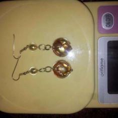 Cercei aur lungi 14 k 11 grame, Culoare aur: Galben