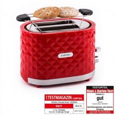 Klarstein Granada Rossa, 1000 W, prăjitor de păine, 2 sloturi, roșu - Toaster