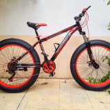 Fat bike, ideal pentru zapada, noroi, nisip - Mountain Bike, 26 inch, Numar viteze: 21
