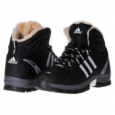 Bocanc Adidas Outdoor piele negru - Bocanci barbati Nike, Marime: 40, 41, 42, 43, 44, Culoare: Din imagine, Piele sintetica