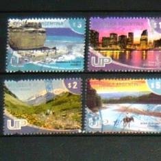 Lot Serie 4 timbre uzate PEISAJE ORASE Argentina 2+1 gratis RBK20158