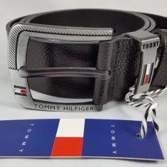 Curea Tommy Hilfiger - Curea Barbati Tommy Hilfiger, Marime: 105cm, 120cm, 125cm, 130cm, Alta, Culoare: Negru