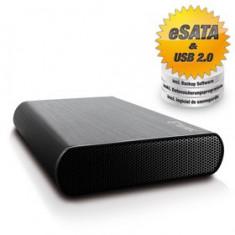 Carcasa HDD Extern Fantec DB-AluSky U2e, USB 3.0, Negru
