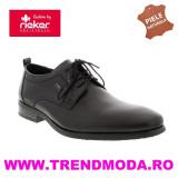 Pantofi barbati piele naturala RIEKER 10620-00 negru (Marime: 43)