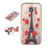 Husa SAMSUNG GALAXY S7 silicon flori Paris Turn EIFFEL transparenta - Husa Telefon