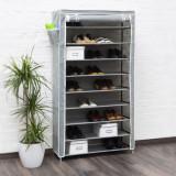 Pantofar panza pentru 45 perechi pantofi-antracit