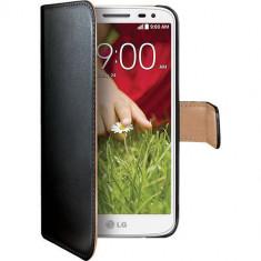 Husa Flip Cover Celly 91237 Agenda neagra pentru LG G2 Mini - Husa Telefon