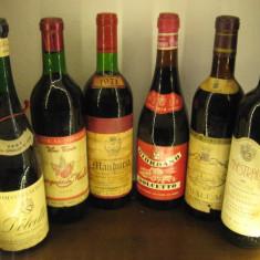 6 sticle vin vechi lotto (F) recoltare 1964/1969/1971/1974/2000 - Vinde Colectie, Aroma: Sec, Sortiment: Rosu, Zona: Europa