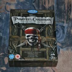 Film - Pirates of the Caribbean 1-4 Box Set [5 Blu-ray], Release UK Original - Film Colectie disney pictures, Engleza