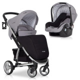 Carucior 2 in 1 Virage Ecco Travel Sistem Easy Go - Carucior copii 2 in 1, Gri