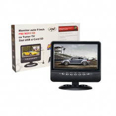 Resigilat - Monitor auto PNI NS911D cu ecran de 9 inch, tuner TV, slot USB si cititor card SD - TV Auto