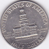 Moneda Statele Unite ale Americii 1/2 Dolar 1976 - KM#205 XF+ (bicentenar), America de Nord
