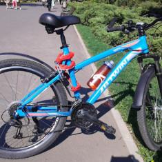 Vand MTB B'TWIN cu accesoriile inluse - Mountain Bike Rockrider, 26 inch, Numar viteze: 21
