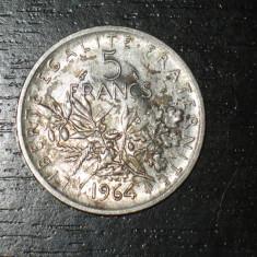 Moneda argint 5 franci Franta 1964, stare buna, Europa
