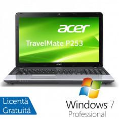 Laptop ACER Travelmate P253, Intel Core i5-3230M 2.60GHz, 8Gb DDR3, 320GB SATA, DVD-RW, Display 15.6 inch HD CineCrystal + Windows 7 Professional