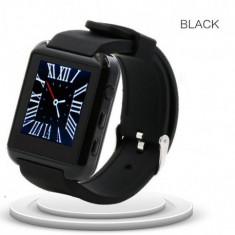 SMARTWATCH U-WATCH U8S BLUETOOTH NEGRU MODEL NOU - Pebble Smartwatch