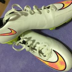Ghete fotbal Nike mercurial, Marime: 44.5, Culoare: Alb