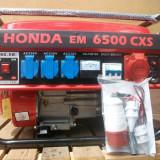 Generator de curent Honda, 5,5 kw, 220/380v, benzina + GPL, NOU, transp gratuit