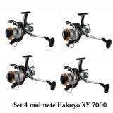 Set 4 Mulinete Hakuyo XY 7000 Cu Sistem Bait Runner Baitrunner Frana de atac - Mulineta, Lansat, stationar